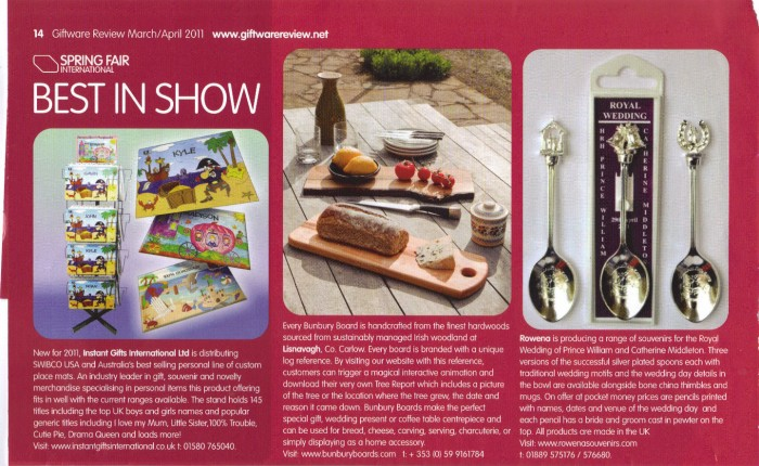Giftreview March April Issue 2011